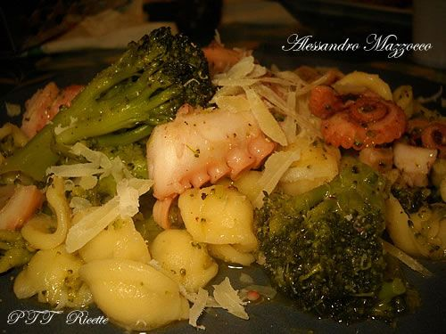Orecchiette con polpo e broccolo siciliano   Ricetta