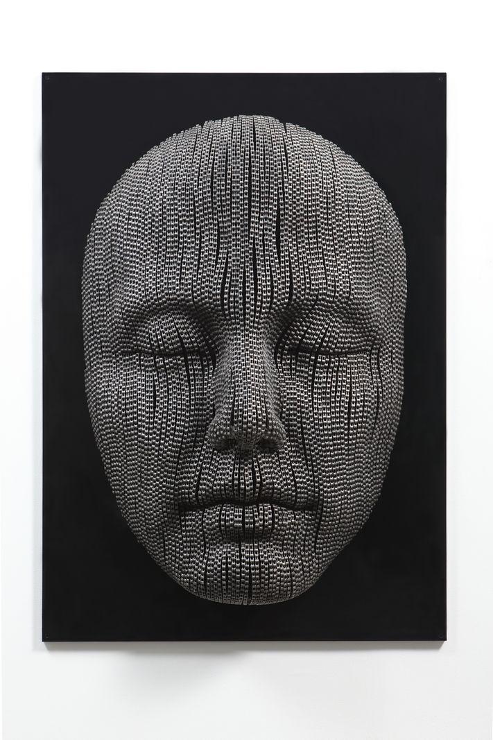 Meditation #10, Iron chain, 140x100x30cm, 2013