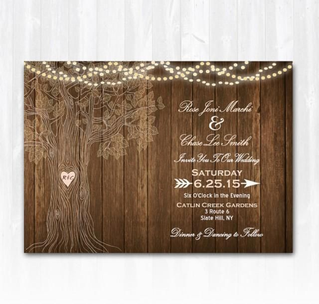 blank wedding invitation templates trees