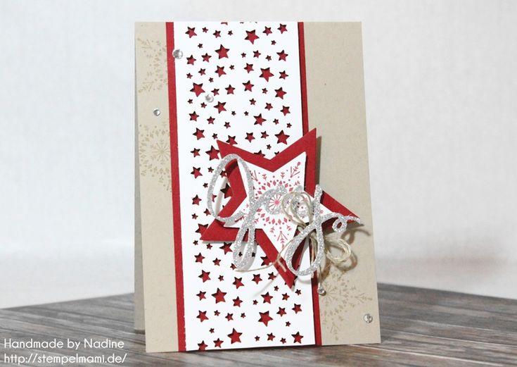 Stampin Up - Weihnachtskarte - Christmas Card - Karte - Card - Weihnachten - Christmas - Framelits Willkommen Weihnacht - Framelits Stern Kollektion ☆ Stempelmami