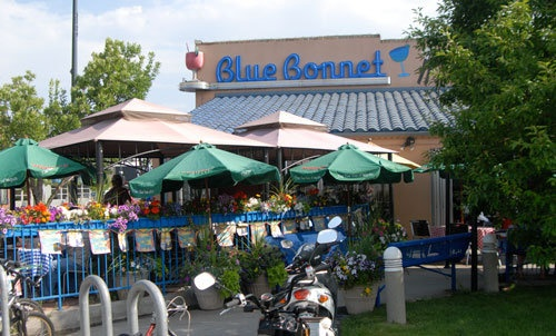 A perfect patio day at Blue Bonnet Cafe in Denver, Colorado.