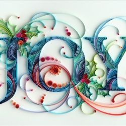 Wishing you joy in the new year via Yulia Brodskaya's amazing quilling.