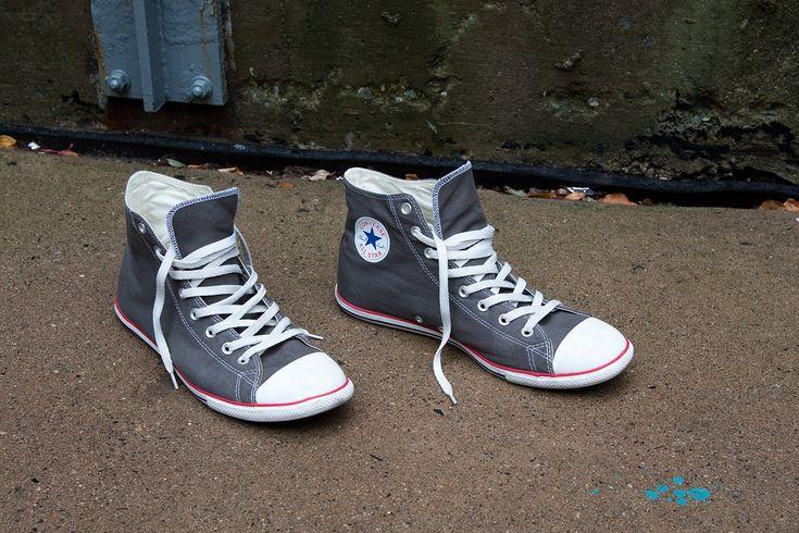 Converse Slim High-Top Chuck Taylors in Grey