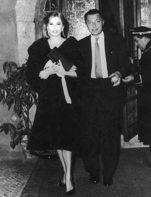 Gianni Agnelli con Anita Ekberg a Roma