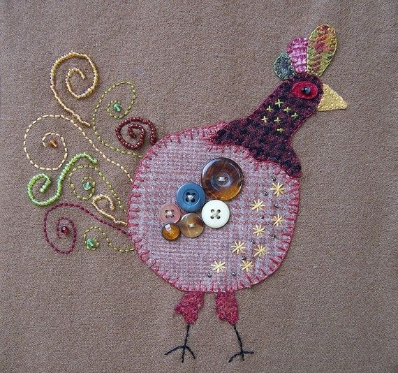 chicken #applique