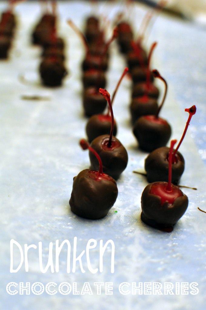 Drunken Chocolate Covered Cherries