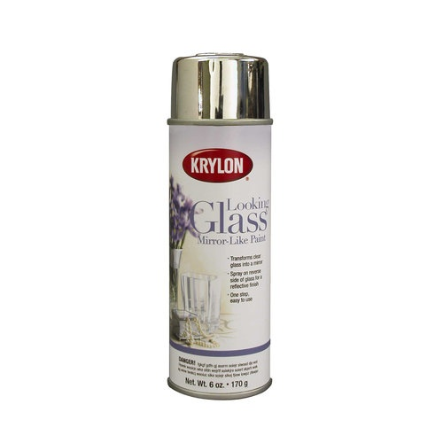 This spray paint is at the forefront of one of the hottest Upcycling trends right now. It makes ordinary glass and plastic objects look magical. Krylon Looking Glass Mirror-Like Spray Paint 6 oz, #9033 #WalmartGreen