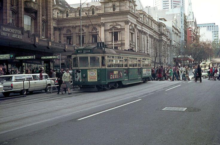 Corner Collins and Swanston St 1976