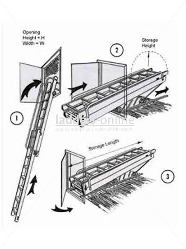 £551.95 Vertical Carriage Loft Ladder The Vertical Carriage Loft Ladder is ideally suited where a sturdy means of access is required to areas only accessible through a vertical door, upward opening ceiling hatch or onto a platform / mezzanine floor.
