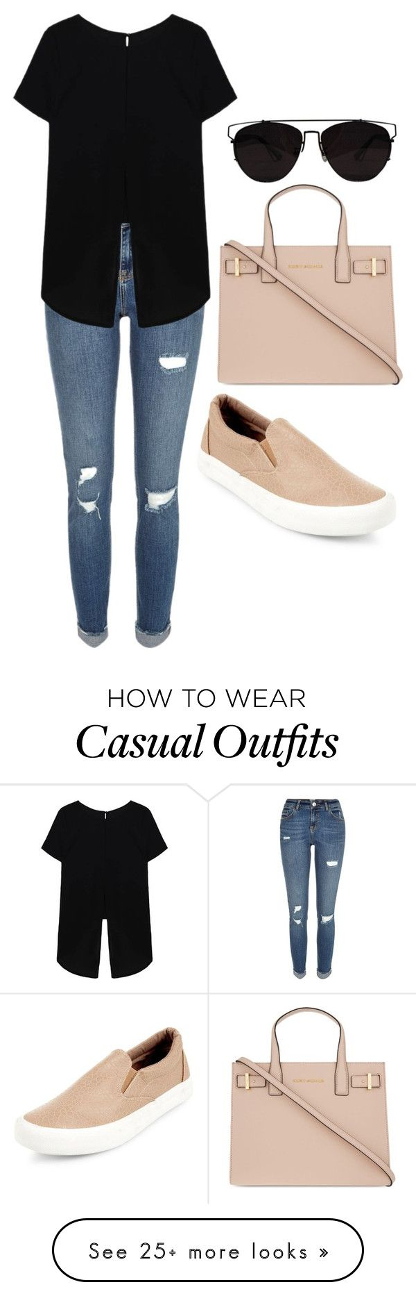"""Casual"" by heart-break on Polyvore featuring River Island, Kurt Geiger and Retrò"
