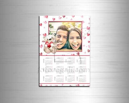 Calendario A4 magnetico con orsetto
