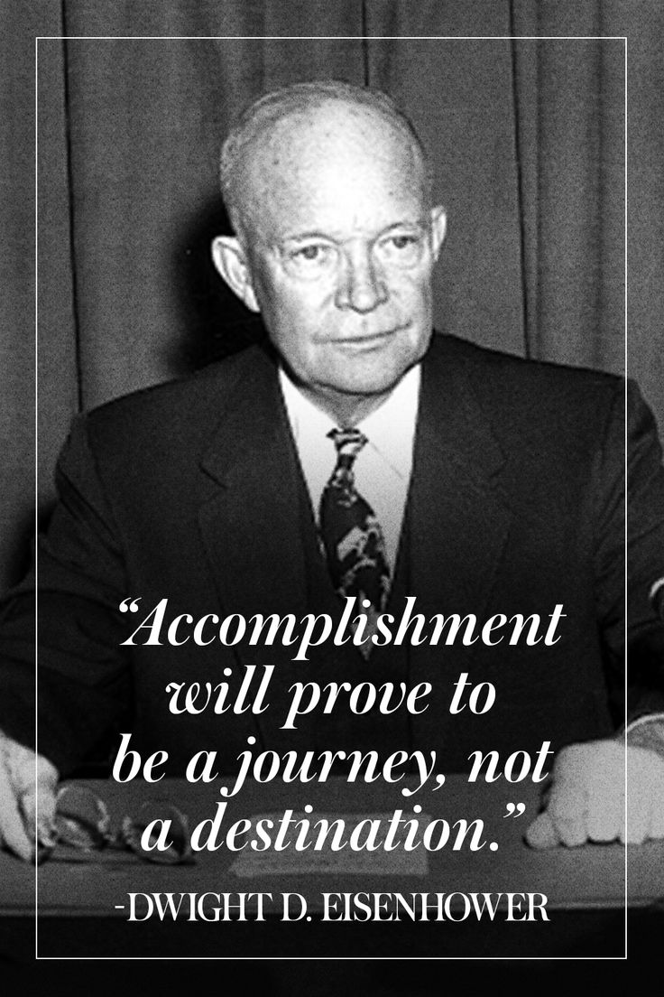 President Dwight D. Eisenhower...