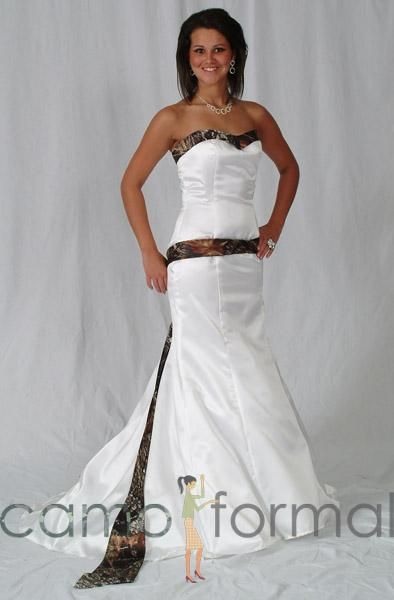 Mossy oak wedding dresses weddings pinterest for Mossy oak camo wedding dress