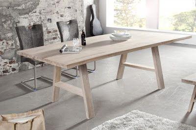 Luxusný nábytok REACTION: Jedálenský stôl CLOFT z masívneho dreva.