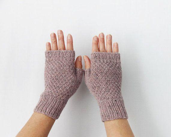 Fingerless Gloves Wool Gloves Women's Gloves by HappyLaika on Etsy