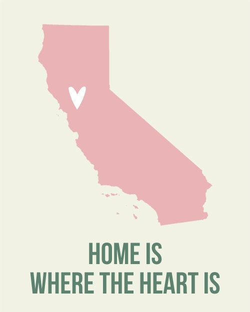 california home is art print 8 x 10 inch travel map i heart usa sale buy 2 get 3 printing. Black Bedroom Furniture Sets. Home Design Ideas