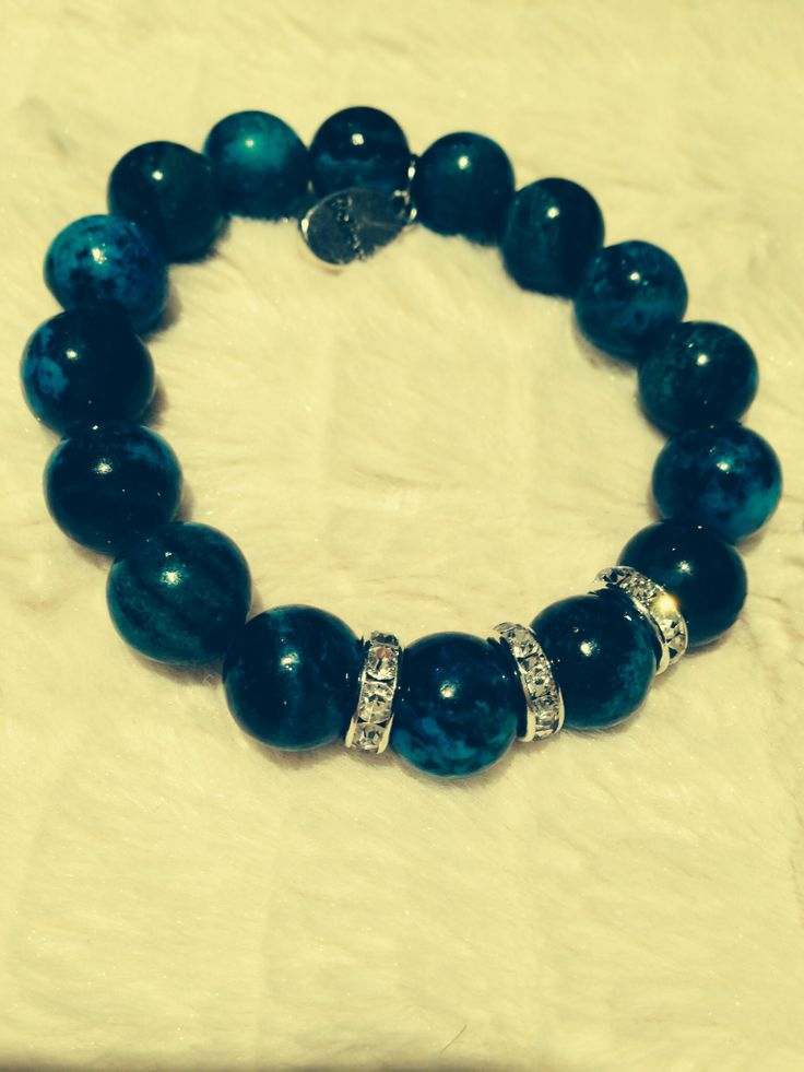 Chrysocollo gemstone bead bracelet