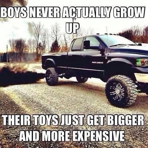 This makes me think of my son (my little love)..Hopefully Ayden will play with his little trucks and tractors for a few more years!