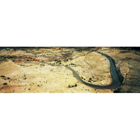 Hwy 12 near Escalante UT USA Canvas Art - Panoramic Images (36 x 12)