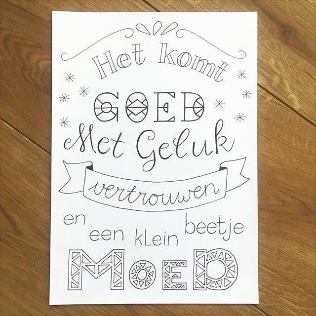 Deze prachtige quote is gemaakt door @heleeenxx. #deeljeDIY Ook aan de slag met Handlettering? Het DIY-pakket Handlettering bevat alles wat je nodig hebt. Verkrijgbaar via shop.imakin.nl #handlettering #handlettered #workshop #diypakket #diykit #quote