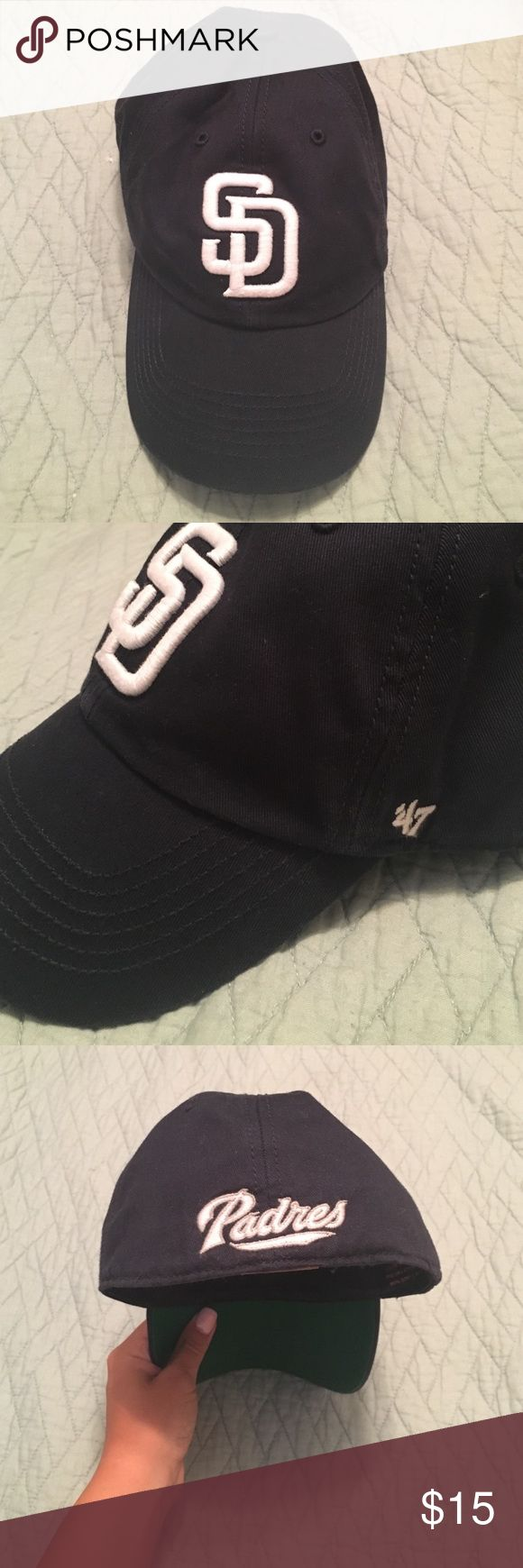 San Diego Padres Baseball Cap Perfect condition! Super cute! Genuine MLB Merchandise! Forty Seven Brand Accessories Hats