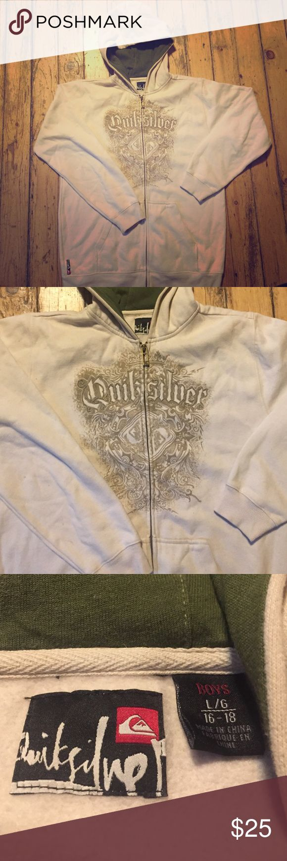 NWOT Quicksilver zip up hoodie. NWOT boys LG zip up hoodie metal zipper. Quicksilver Shirts & Tops Sweatshirts & Hoodies