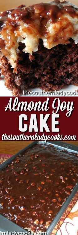 Almond joy cake is rich and delicious.  It tastes like an almond joy candy bar and is wonderful for a dessert with ice cream or with coffee or milk anytime.  If you like chocolate, almonds …