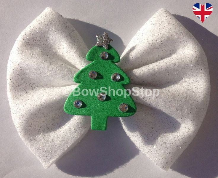 112 Best Christmas Hair Bows Images On Pinterest Christmas Hair  - Christmas Tree Hair Bows