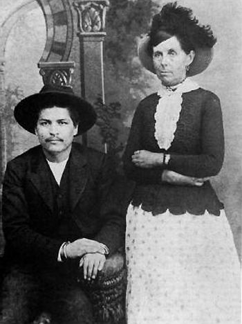 Blue Duck with Belle Starr. Duck was born in the Cherokee Nation, with the name of Sha-con-gah. By the early 1870s he was riding with gangs across the Oklahoma Territory committing armed robberies and acts of cattle rustling. Blue Duck became involved romantically with Belle Starr along that time.