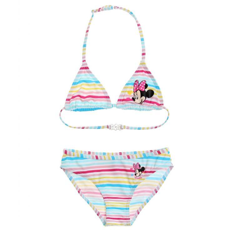 Costum de baie bikini Disney Minnie alb