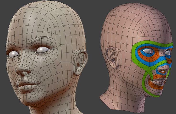 Female head topology feedback - Polycount Forum