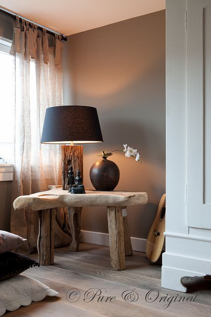 Pure & Original by Casa El Campo by Pure-Original.....love curtains, table, lamp