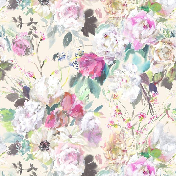 Palissy Grande Camellia Fabric | Designers Guild