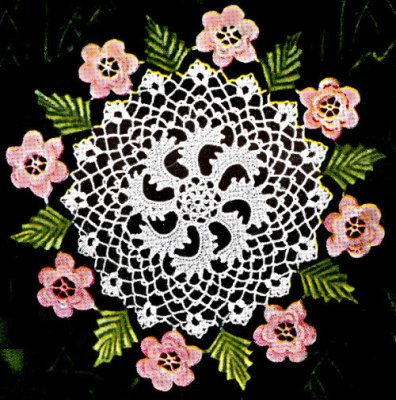 Irish Rose crochet doily