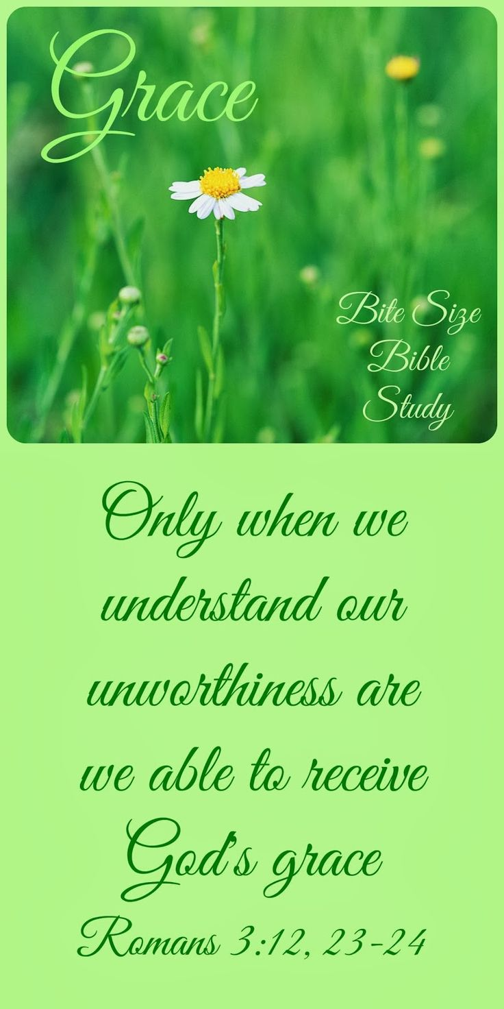 """The meaning of GRACE is """"the free and unmerited favor of God.""""  When we understand our unworthiness, we can understand how wonderful grace really is."""