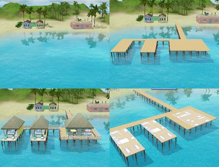 The Sims 3 Island Paradise - Building a Resort