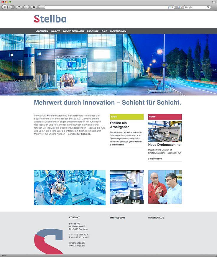 Kunde: Stellba AG | Branche: Industrie - Beschichtungstechnik | Werbemittel: Responsive-Website | Erscheinung: einmalig | Umfang: Standard / BBGmarconex AG