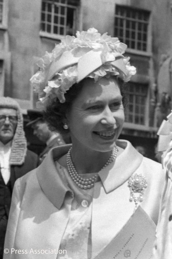 British Monarchy on Twitter:  Queen Elizabeth attended the 750th Anniversary of Magna Carta in 1965