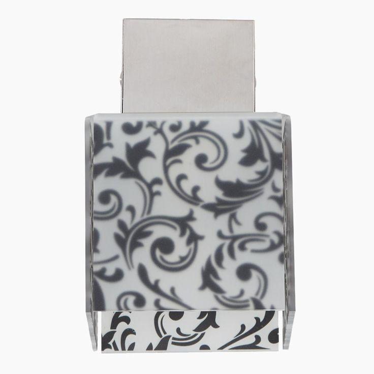 Applique da muro con Paralume DECODADO con supporto in acciaio satinato paralume Damasco Nero | Emporium | Stilcasa.Net: lampade a sospensione