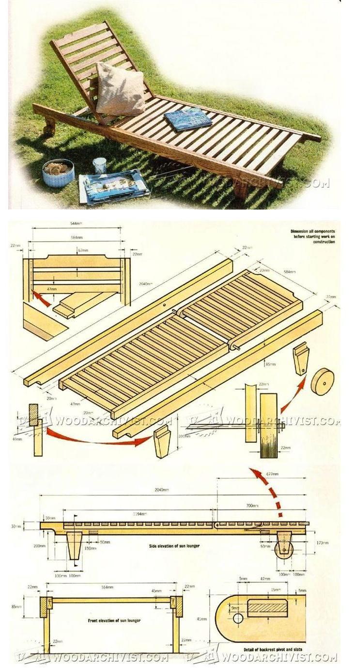 Sun Lounger Plans - Outdoor Plans and Projects | WoodArchivist.com