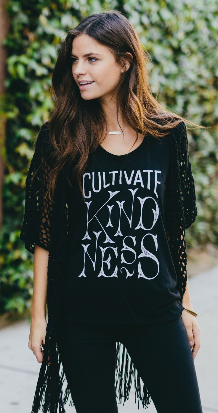 Cultivate kindness, and teach it to others too! Each purchase from this week's collection funds a visit to The Gentle Barn for at-risk youth and children with special needs. #Sevenly