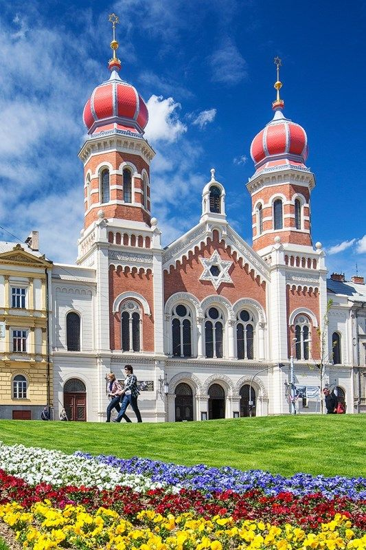 Great synagogue in Pilsen (West Bohemia), Czechia #travel #explore #sacred #architecture #synagogue #Pilsen #Czechia #VisitCzechia #DiscoverCzechia