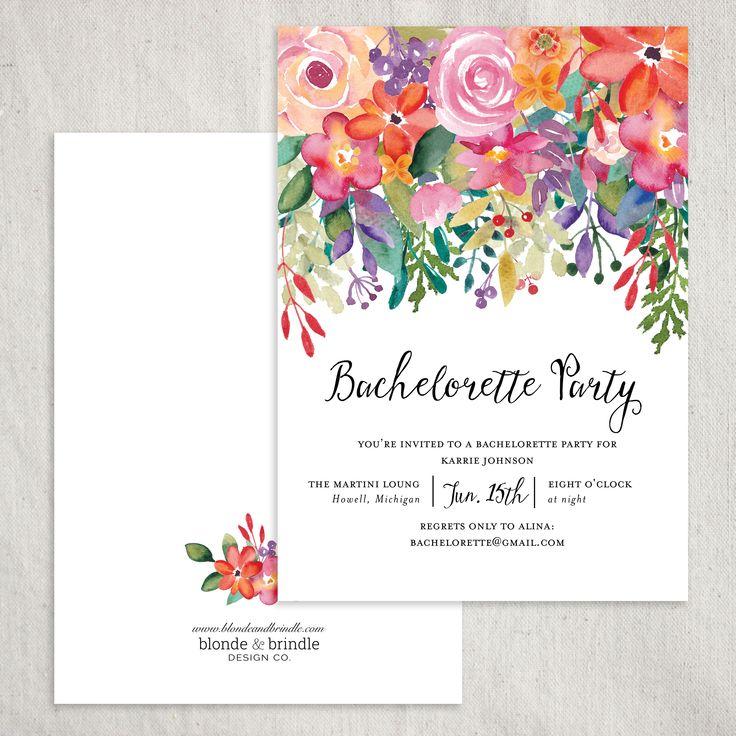 25 best ideas about Bachelorette party invitations – When to Send out Bachelorette Party Invitations
