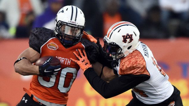 Nick Marshall SENIOR BOWL 2015. ~ Check this out too ~ RollTideWarEagle.com for great sports stories that inform and entertain. #Auburn