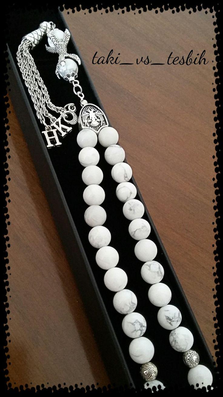 Doğaltaş havlit özel tasarım tesbih.... Handmade prayer beads....