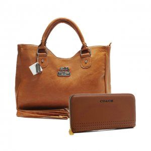 Coach Legacy Large Brass Satchels ABY+Large Brown Wallets BVV