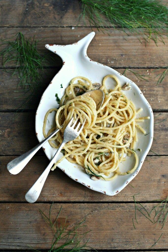 Spaghetti con sarde e cime di finocchio #ricette #ricetteveloci #ricettesemplici