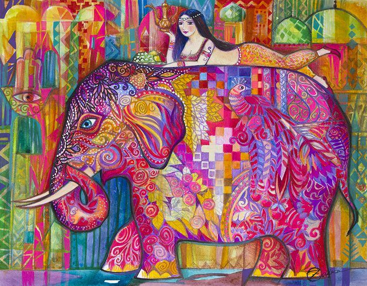 Pink Elephant TouCanvas Art, Book art, Painting