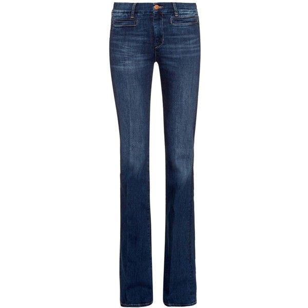 M.i.h Jeans Marrakesh high-rise kick-flare jeans (3.085 CZK) ❤ liked on Polyvore featuring jeans, denim, calças, pants, indigo, blue jeans, high rise jeans, flare jeans, flared jeans and indigo jeans