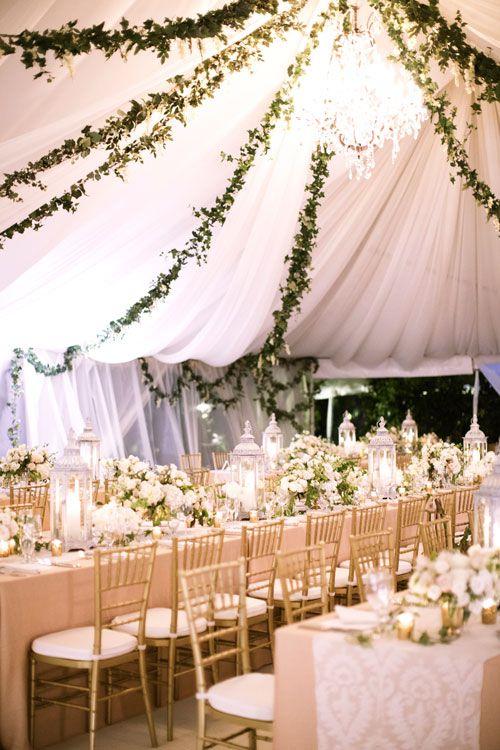 Garden pastel themed reception